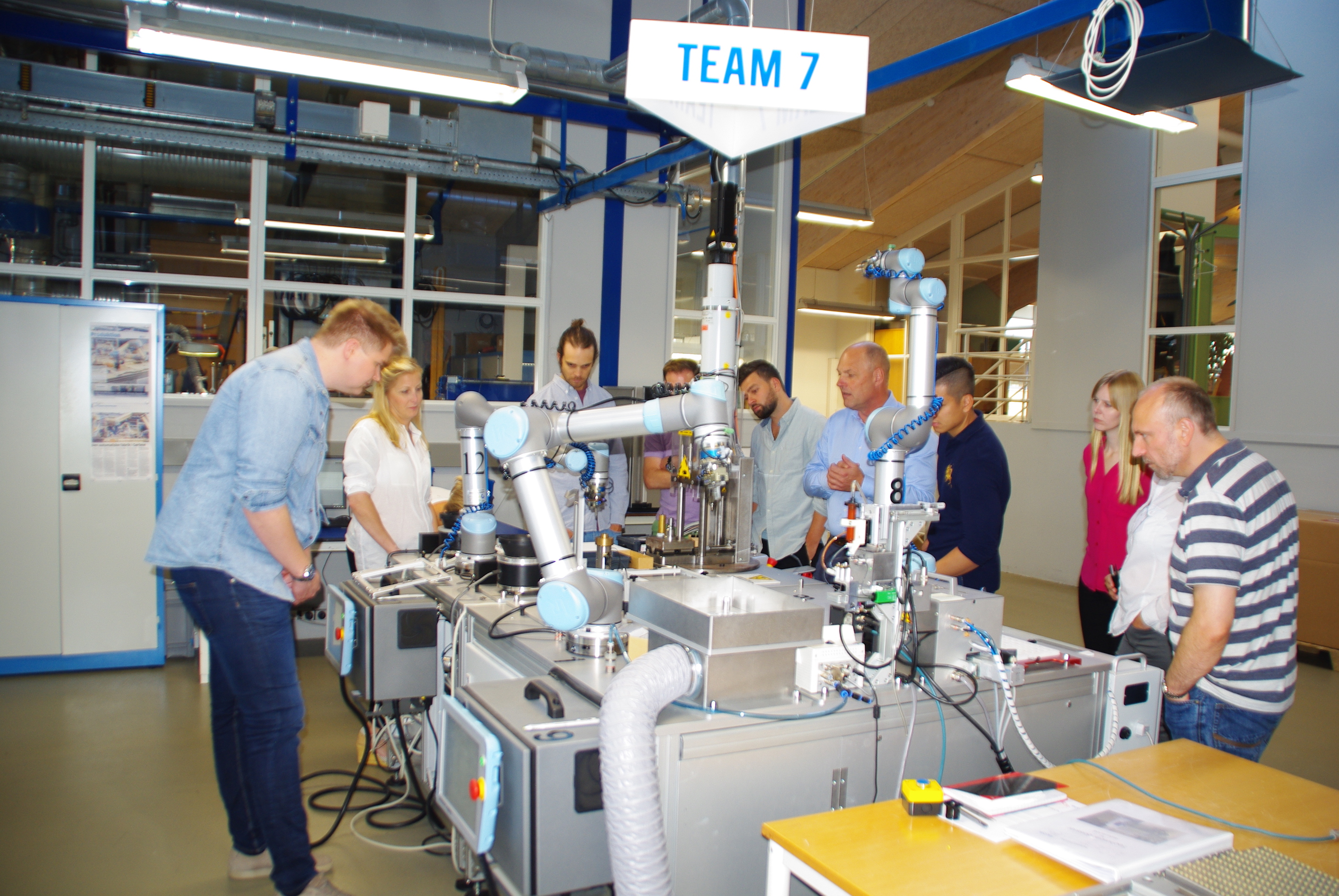 People visiting a lab