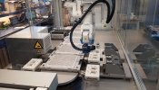 Modular and automated packaging line for medical device products